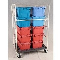 供应铭晔塑料底板日式三门物流台车