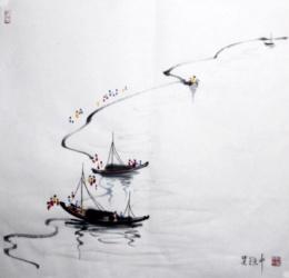 吴冠中字画近期交易价格是多少
