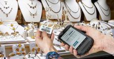 珠宝批发条码PDA扫描打印管理方案