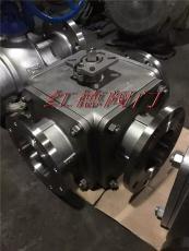 GQ45F三片式高平台三通球阀