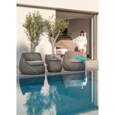新款式休閑圓形單人鋁藤椅