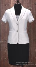 西安女裝訂做 小西裝 夏季短袖職業西裝 量