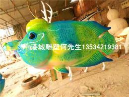 水族馆装饰海洋生物玻璃钢海鱼造型雕塑摆件