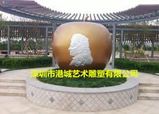 户外市场景观大型玻璃钢仿真苹果雕塑定制厂
