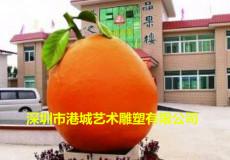 景观标识仿真水果玻璃钢橙子雕塑装饰和美化