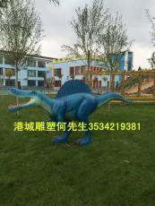 园林景观拍照仿真动物模型玻璃钢恐龙雕塑