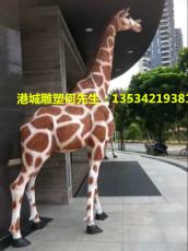 园林景观长颈鹿模型雕像哪家厂家质量有保障