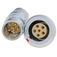 長方捷連接器 6芯電子測試線束 電源信號線