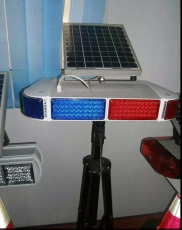 厂家直销甘肃威盾红蓝短排太阳能爆闪灯