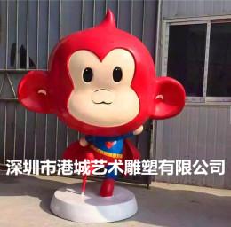 深圳專業定制立體玻璃鋼卡通猴子雕塑廠家