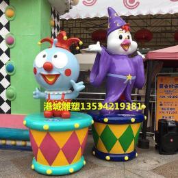 快餐店招牌迎賓卡通玻璃鋼扮小丑叔叔雕塑