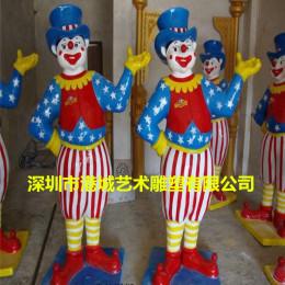 門口搞怪小丑人物雕塑 玻璃鋼迎賓卡通雕像