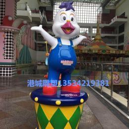 玻璃鋼小丑叔叔雕塑立體造型裝飾模型擺件