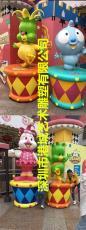 兒童游樂場地玻璃鋼卡通小丑雕塑樂園裝飾品