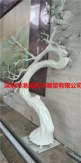 園林景觀玻璃鋼仿真樹干樹叉雕塑擺件