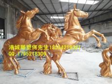 深圳萬馬奔騰招財玻璃鋼仿真馬雕塑廠家