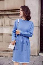 上海知名品牌女裝一手貨源寶姿秋冬韓版衛衣