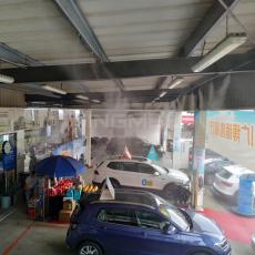 成都景美佳大众4S店造雾降温项目