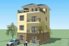 經典三層半自建別墅設計圖-建房設計圖