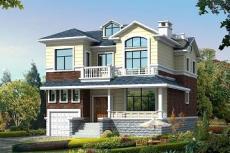 精致二層帶車庫小別墅設計圖-小別墅設計圖