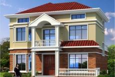 兩層半經典戶型小別墅-農村二層房屋設計圖