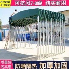 惠州订做移动推拉雨篷 惠东户外遮阳棚伸缩