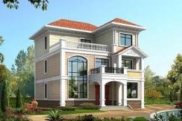 经典三层复式别墅设计图-自建房设计图大全