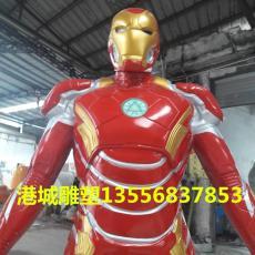 钢铁侠雕塑 玻璃钢机器人模型道具雕塑