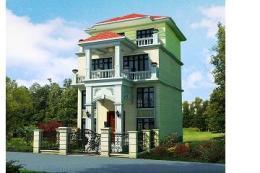 三层带夹层别墅设计图-农村二层房屋设计图