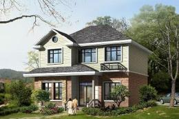 经典二层田园风格小别墅设计图-建房设计图