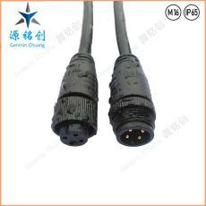 M16-01防水接头四芯公母对接防水连接器 LED
