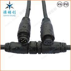 M16-01防水接头五芯公母对接防水连接器 LED
