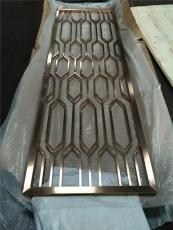 长沙酒店仿铜做旧铝板雕花屏风厂家直销