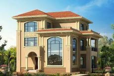 欧式三层复式自建别墅-别墅设计图大全