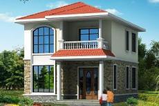 小户型二层自建房屋设计图-建房设计图
