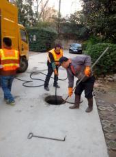 太原勝利街高壓清洗管道 隔油池 疏通下水道