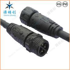 M16-02防水接头四芯公母对接防水连接器 LED
