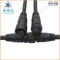 M16-02防水接头五芯公母对接防水连接器 LED
