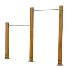 天緣健 廠家直銷塑木高低單杠室外健身器材