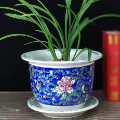 景德镇瓷器花盆厂家供应