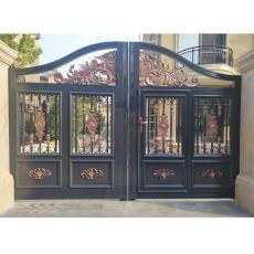 铝艺大门护栏 别墅庭院大门