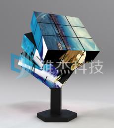 三階魔方屏-LED變形屏-六面旋轉電子屏