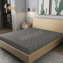 新款灰色细水晶酒店床垫 透气高弹3D床垫