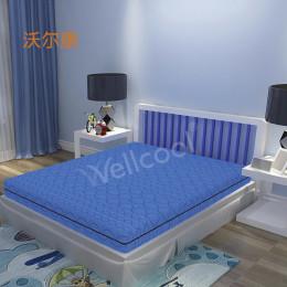 019年夏季新款宝蓝色透气床垫高弹3D床垫