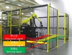 協作機器人進入預警停機光幕