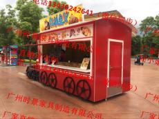 厂家直销可定制户外移动木制售卖亭水果摊