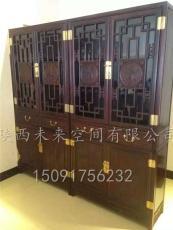 西安古典书柜   榆木书柜  红木书柜
