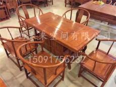 西安红木茶桌  榆木茶桌  仿古茶桌