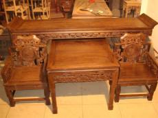 西安仿古贡桌  红木贡桌  榆木贡桌
