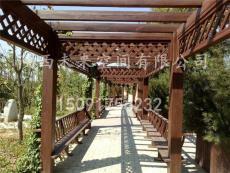 西安仿古廊架  实木廊架  景观廊架